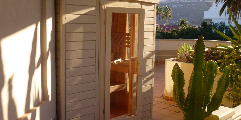 Disfruta el calorcito en la sauna